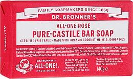 """Parfüm, Parfüméria, kozmetikum Szappan """"Rózsa"""" - Dr. Bronner's Pure Castile Bar Soap Rose"""