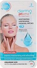 Parfüm, Parfüméria, kozmetikum Hűsítő és frissítő zselés párna - Dermo Pharma 4D Moisturizing & Refreshing Gel Patches