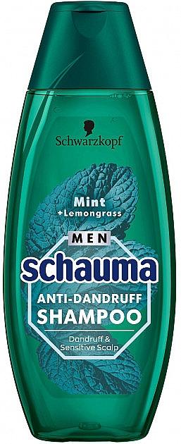 "Férfi sampon ""menta és citromfű"" - Schwarzkopf Schauma Men Anti-Dandruff Shampoo"