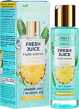 Parfüm, Parfüméria, kozmetikum Hidratáló esszencia a bőr ragyogásáért - Bielenda Fresh Juice Brightening Hydro Essence Pineapple