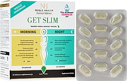 Parfüm, Parfüméria, kozmetikum Fogyókúrás komplexum, 90 db - Noble Health Get Slim Morning & Night