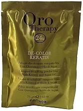 Parfüm, Parfüméria, kozmetikum Szőkítő por keratinnal, világoskék - Fanola Oro Therapy Color Keratin