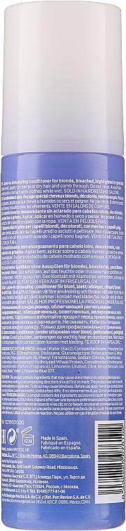 Keratinos kondicionáló szőkített hajra - Revlon Professional Equave 2 Phase Blonde Detangling Conditioner — fotó N2