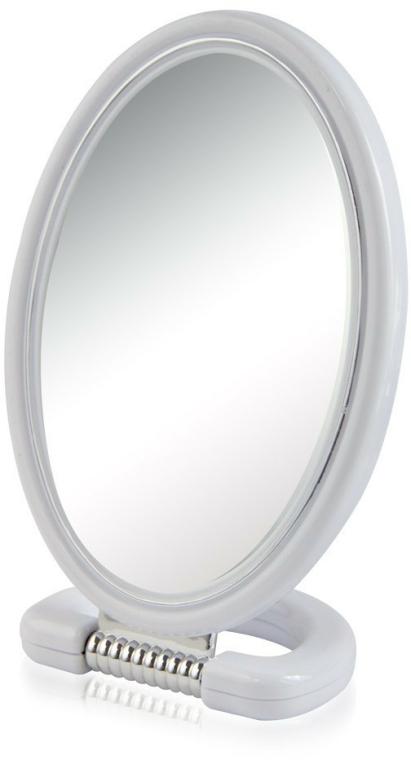 Kozmetikai tükör 9510, ovális, kétoldalú, 22,5 cm, szürke - Donegal Mirror