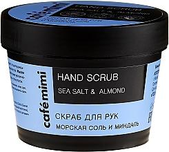 """Parfüm, Parfüméria, kozmetikum Kézradír """"Tengeri só és mandula"""" - Cafe Mimi Hand Scrub"""