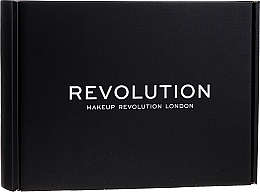 Parfüm, Parfüméria, kozmetikum Készlet - Makeup Revolution Black Box Set № 2 (lipstick/3.5g + foundation/6.2g + b/gel/6ml + mascara/12ml + lipstick/2.2g + eye/palette/30g + highlighter/13.6g)