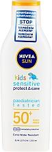 Parfüm, Parfüméria, kozmetikum Napvédő lotion gyerekeknek - Nivea Sun Kids Pure & Sensitive Sun Lotion SPF50+