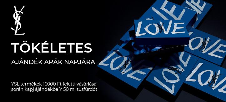 Yves Saint Laurent termékek 16 000 Ft feletti vásárlása során kapj ájándékba Y 50 ml tusfürdőt