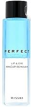 Parfüm, Parfüméria, kozmetikum Sminkelávolító szer - Missha Perfect Lip & Eye Make-Up Remover