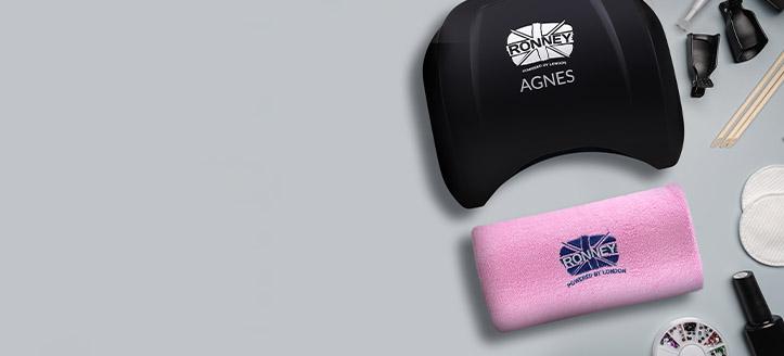 Akciós Ronney Professional LED lámpák vásárlásakor kapj ajándékba választható manikűr kéztámaszt: fehér, kék vagy rózsaszín
