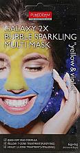 Parfüm, Parfüméria, kozmetikum Arcmaszk sárga-kék - Purederm Galaxy 2X Bubble Sparkling Multi Mask