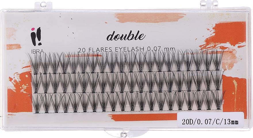 Műszempilla tincsek, C 13 mm - Ibra 20 Flares Eyelash Knot-fre Naturals