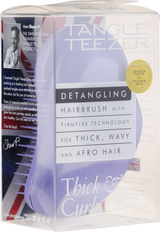 Hajkefe, világos lila - Tangle Teezer Detangling Thick & Curly Lilac Fondant