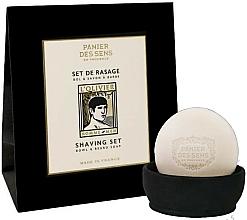 Parfüm, Parfüméria, kozmetikum Készlet - Panier des Sens L'Olivier Shaving Set (soap/150g + soap holder/1pcs)