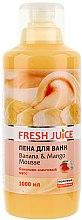 Parfüm, Parfüméria, kozmetikum Fürdőhab - Fresh Juice Banana and Mango Mousse