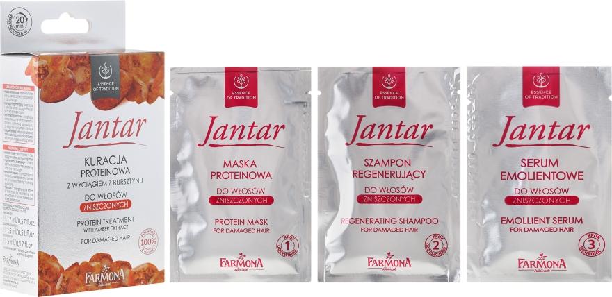 Protein kúra borostyánnal - Farmona Jantar Protein Treatment With Amber Extract For Damaged Hair