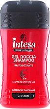 Parfüm, Parfüméria, kozmetikum Sampon és tusoló balzsam ginzeng kivonattal - Intesa Classic Black Shower Shampoo Gel Revitalizing