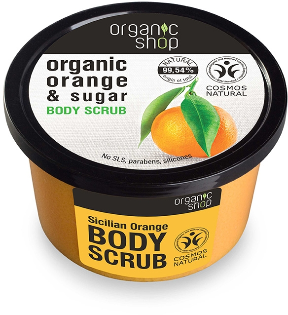 "Testradír""Szicíliai narancs"" - Organic Shop Body Scrub Organic Orange & Sugar"
