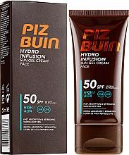 Parfüm, Parfüméria, kozmetikum Napvédő krém és gél arcra - Piz Buin Hydro Infusion SPF 50