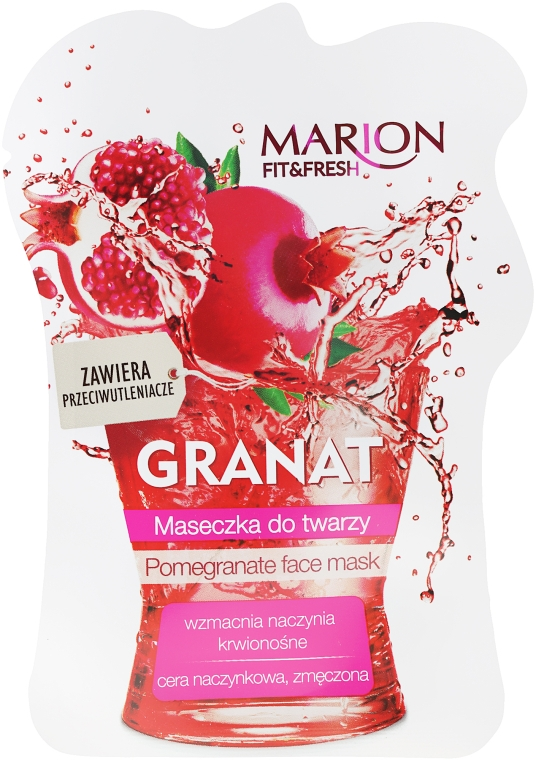 """Gránátalma"" arcmaszk - Marion Fit & Fresh Pomegranate Face Mask"