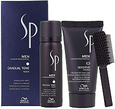 Parfüm, Parfüméria, kozmetikum Készlet - Wella SP Men Gradual Tone Black (hair/mousse/60ml+shmp/30ml)