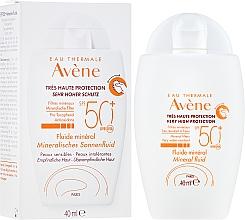 Parfüm, Parfüméria, kozmetikum Napvédő folyadék nagyon erős védelemmel - Avene Eau Thermale Mineral Fluid SPF 50+