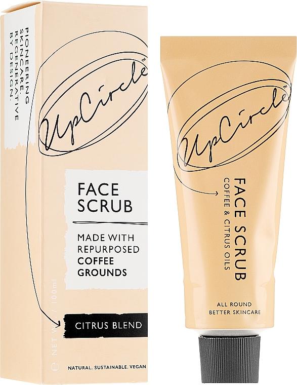 """Kávés bőrradír arcra """"Citrus"""" - UpCircle Coffee Face Scrub Citrus Blend"""