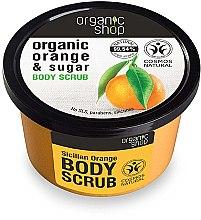 """Parfüm, Parfüméria, kozmetikum Testradír""""Szicíliai narancs"""" - Organic Shop Body Scrub Organic Orange & Sugar"""