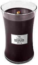 Parfüm, Parfüméria, kozmetikum Aroma gyertya - WoodWick Hourglass Candle Black Plum Cognac