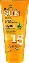 Parfüm, Parfüméria, kozmetikum Vízálló napozó emulzió - Farmona Herbal Care Sun SPF 15
