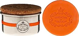 Parfüm, Parfüméria, kozmetikum Natúr szappan - Essencias de Portugal Aluminium Jewel-Keeper With Cork Lid Orange