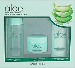 Parfüm, Parfüméria, kozmetikum Készlet - Holika Holika Aloe (toner/50ml + emulsion/50ml + cr/20ml)