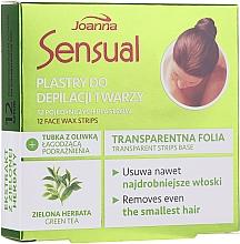 Parfüm, Parfüméria, kozmetikum Arcgyanta csík zöld teával - Joanna Sensual Depilatory Face Strips With Green Tea Extract