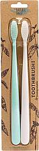 Parfüm, Parfüméria, kozmetikum Készlet - The Natural Family Co Bio Brush Rivermint & Ivory Desert (toothbrush/1pcs + toothbrush/1pcs)