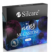 Parfüm, Parfüméria, kozmetikum Készlet - Silcare Flexy Moonstone Hybrid Gel Set (nail/polish/4x4.5g)