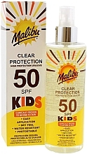 Parfüm, Parfüméria, kozmetikum Napvédő spray gyerekeknek - Malibu Kids Clear Protection Spray SPF 50