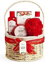 Parfüm, Parfüméria, kozmetikum Szett - IDC Institute Vintage Fruits (sh/g/160ml+b/lot/160ml+b/scrub/110ml+salt/100g+sponge+basket)