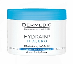 Parfüm, Parfüméria, kozmetikum Hialuron ultra hidratáló olaj - Dermedic Hydrain3 Hialuro Ultra-Hydrating Body Butter