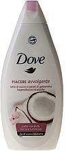"""Parfüm, Parfüméria, kozmetikum Krémes tusfürdő """"Kókuszolaj és jázmin szirmok"""" - Dove"""