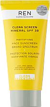 Parfüm, Parfüméria, kozmetikum Mattító napvédő krém - Ren Clean Screen Mattifying Face Sunscreen SPF 30