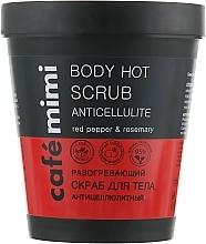 Parfüm, Parfüméria, kozmetikum Melegítő testradír narancsbőr ellen - Cafe Mimi Body Hot Scrub Anticellulite