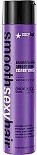 Parfüm, Parfüméria, kozmetikum Kondicionáló töredezett hajra - SexyHair SmoothSexyHair Anti-Frizz Conditioner