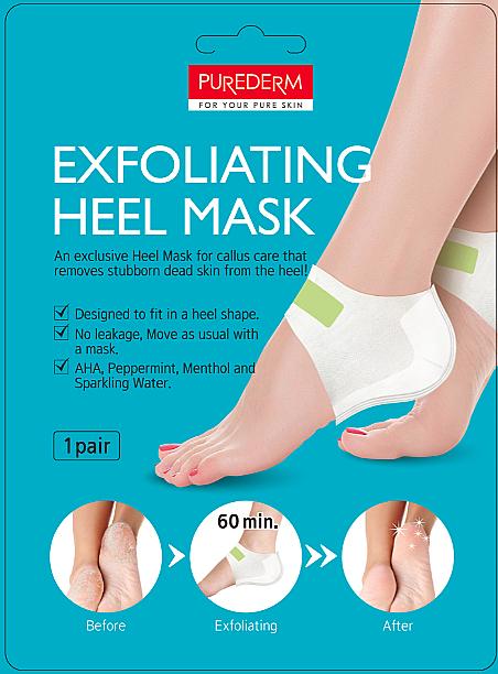 Maszk-peeling sarokra - Purederm Exfolaiting Heel Mask