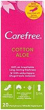 Parfüm, Parfüméria, kozmetikum Tisztasági betét aloe kivonattal, 20 db - Carefree Cotton Aloe
