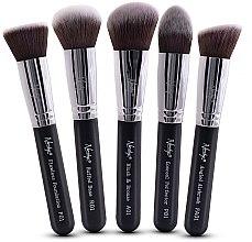 Parfüm, Parfüméria, kozmetikum Ecset készlet - Nanshy Face Brush Set Black (Brush/5db)