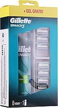 Parfüm, Parfüméria, kozmetikum Szett - Gillette Mach 3 (8 tartalék penge + gel/200ml)