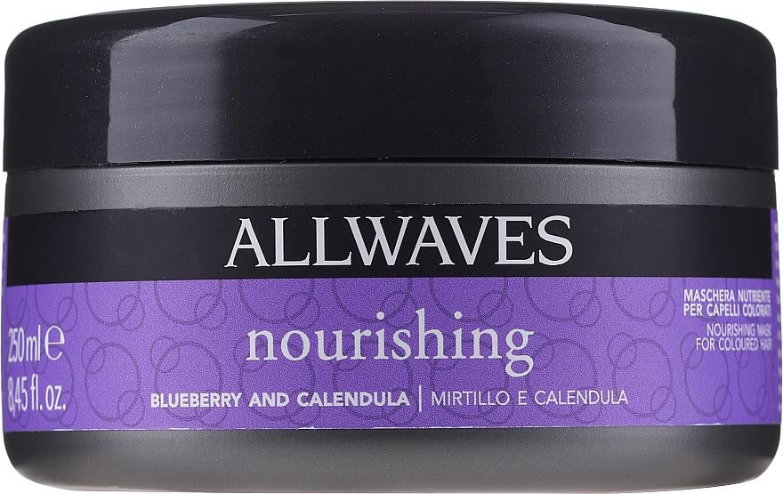 Hajfestés utáni tápláló maszk erdeibogyó és körömvirág kivonattal - Allwaves Blueberry And Calendula Nourishing Mask
