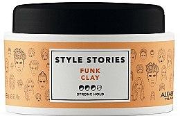 Parfüm, Parfüméria, kozmetikum Hajformázó pomádé erős fixálás - Alfaparf Style Stories Funk Clay Strong Hold