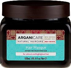 Parfüm, Parfüméria, kozmetikum Maszk festett hajra - Arganicare Shea Butter Argan Oil Hair Masque