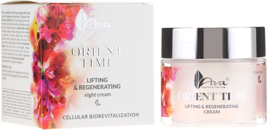 Éjszakai arckrém - Ava Laboratorium Orient Time Skin Lifting & Regenerating Night Cream